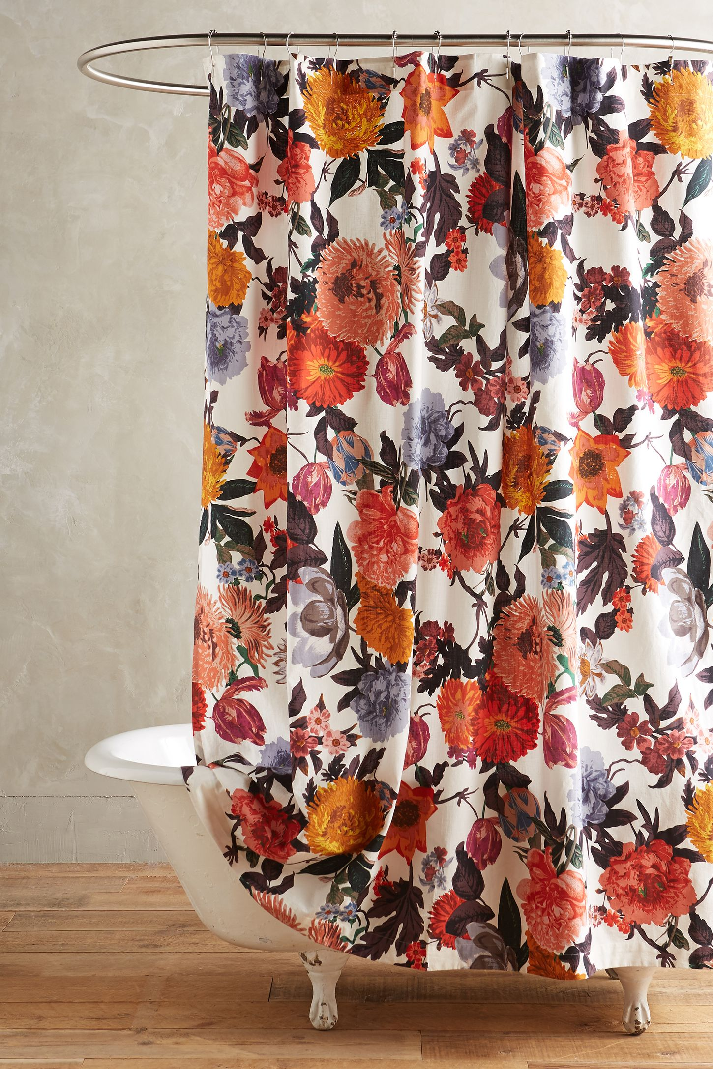 Floral Shower Curtain | Shower Curtians | Mustard Shower Curtain