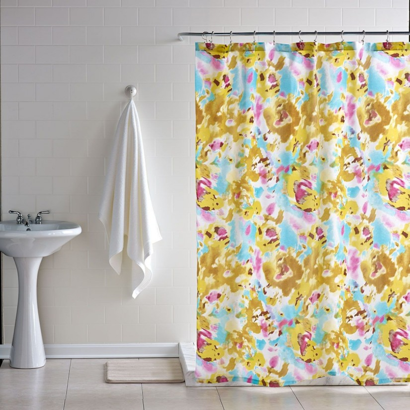 Floral Shower Curtain | Threshold Shower Curtain | Floral Shower Curtain Hooks