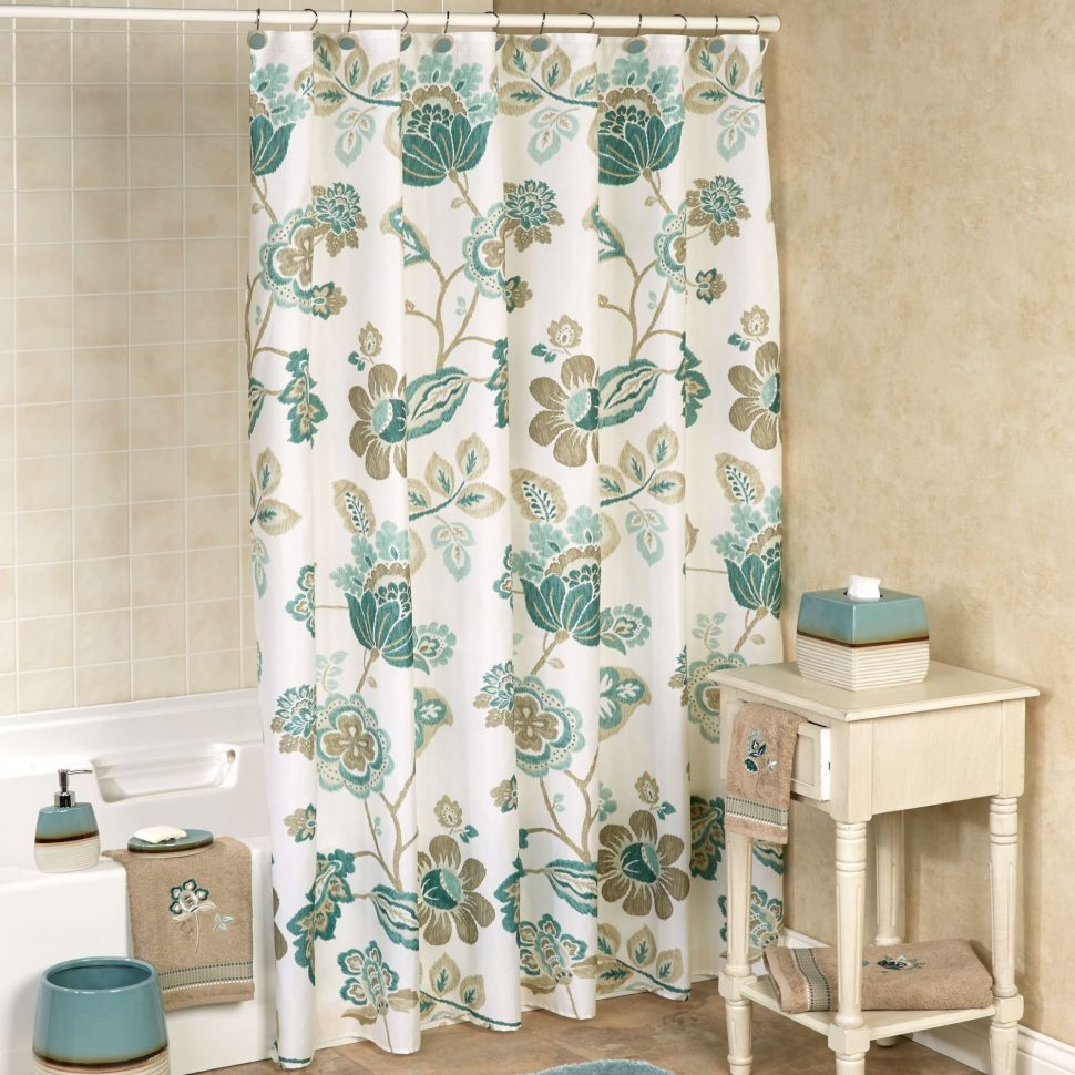 Floral Shower Curtain | Threshold Shower Curtains | Floral Fabric Shower Curtain