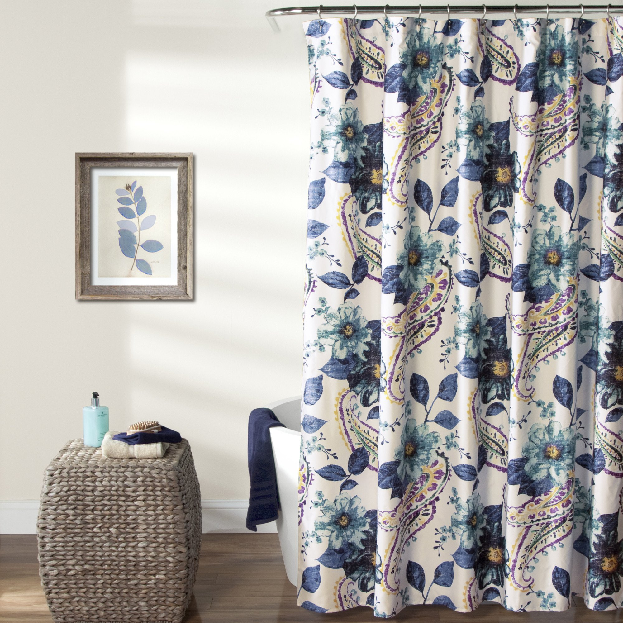 Flowers Shower Curtain | Floral Shower Curtain | India Shower Curtain