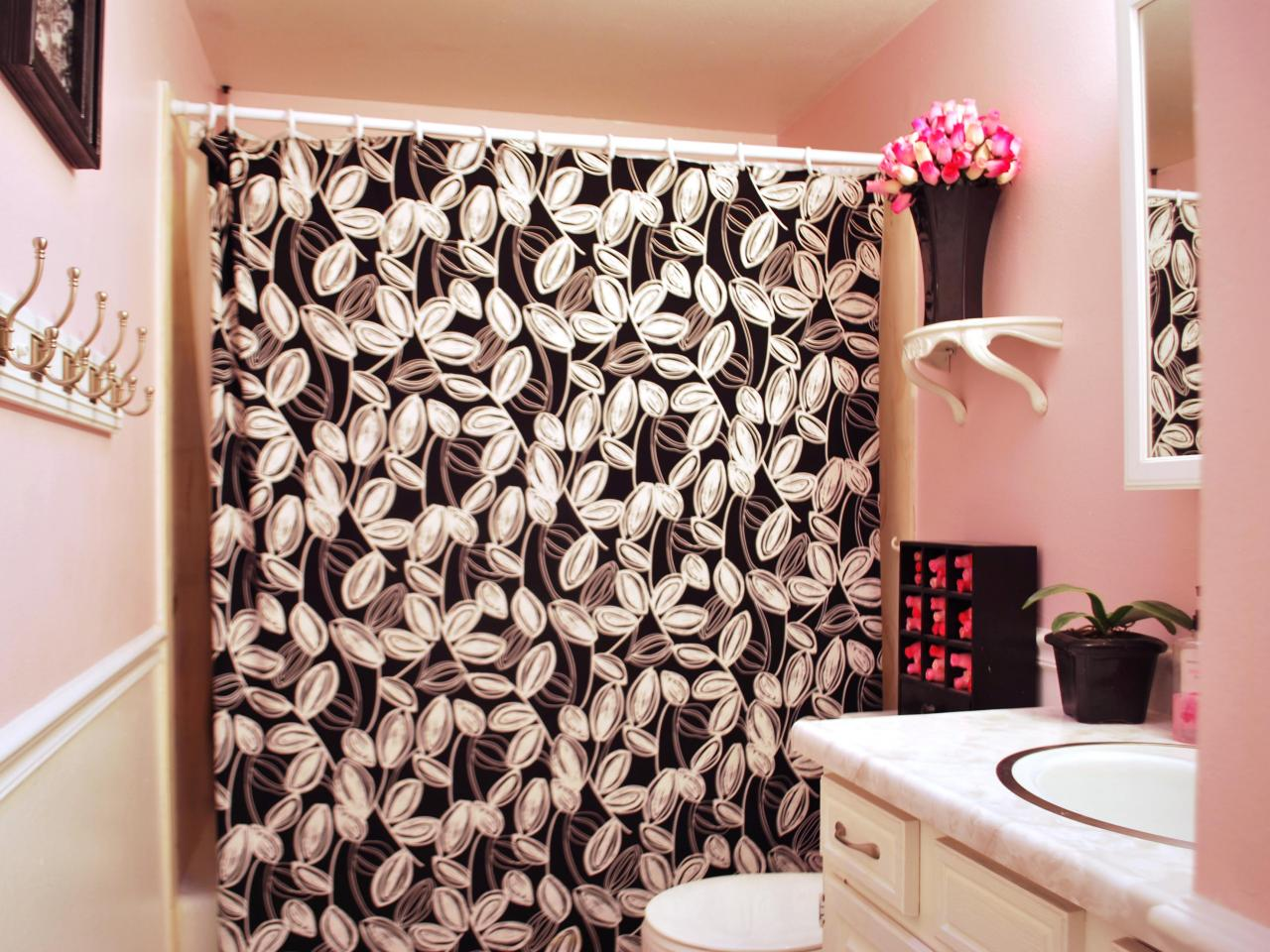 Flowers Shower Curtain | Floral Shower Curtains Fabric | Floral Shower Curtain