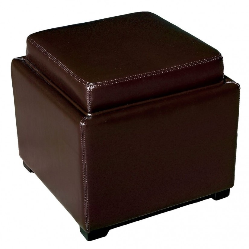 Footstool Storage Cube | Storage Cube Ottoman | Leather Cube Ottoman Storage