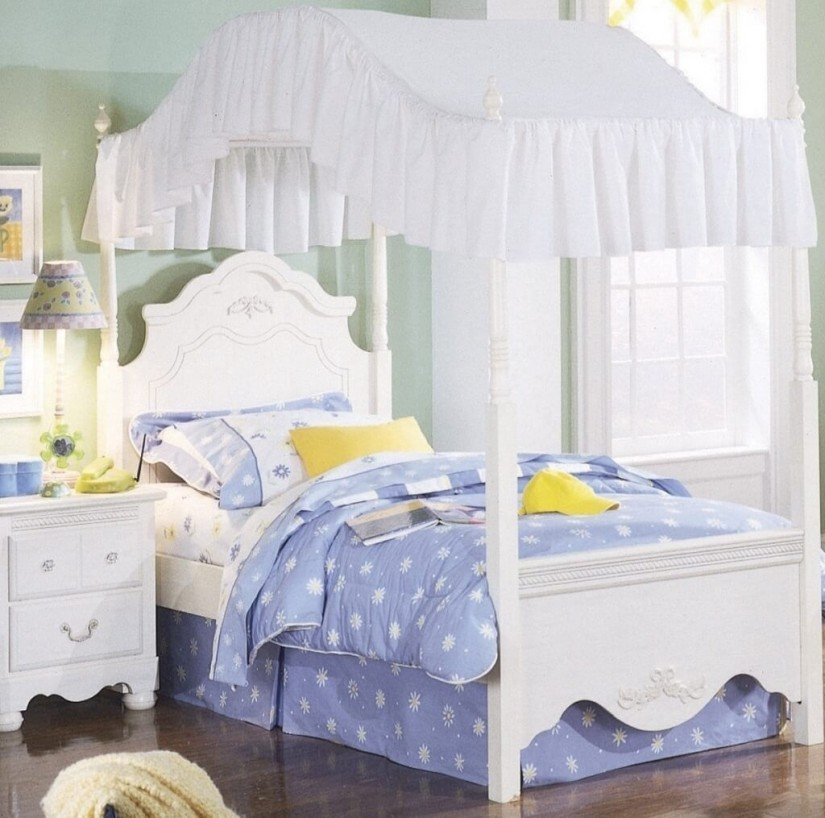 Four Poster Canopy Bed Curtains | Sheer Drapes For Canopy Beds | Canopy Bed Curtains