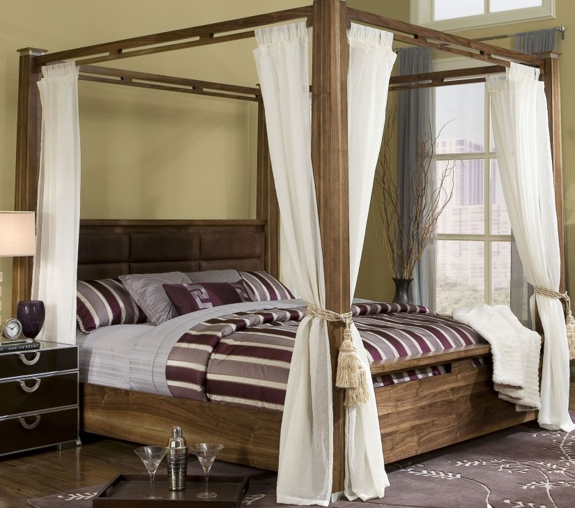 Four Poster Curtains | King Bed Canopy Drapes | Canopy Bed Curtains