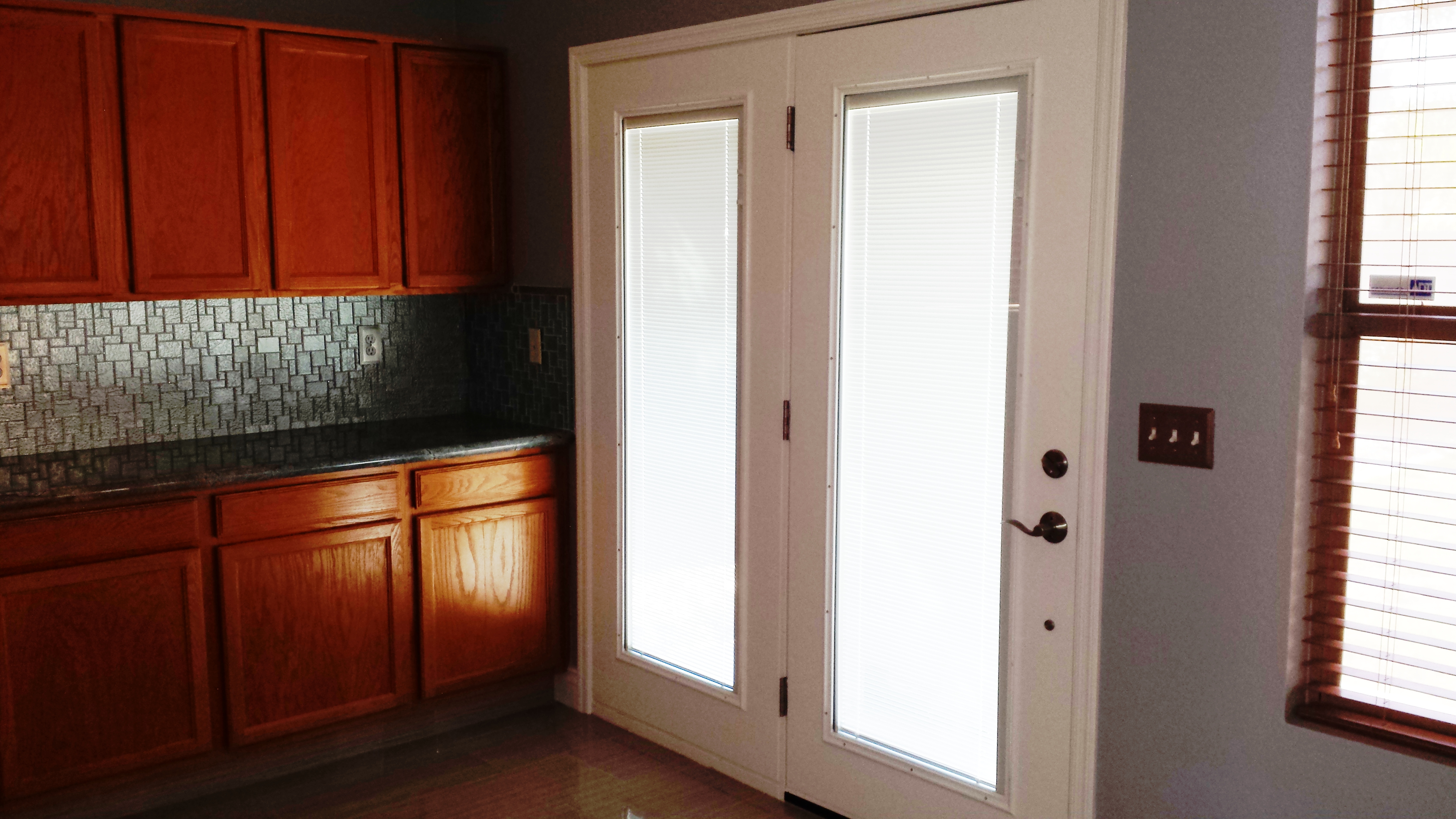 of built glass kitchen cellular vertical problems blinds doors in reviews ikea window patio french full between wooden depot sliding for with curtains treatments size shades the windows home door