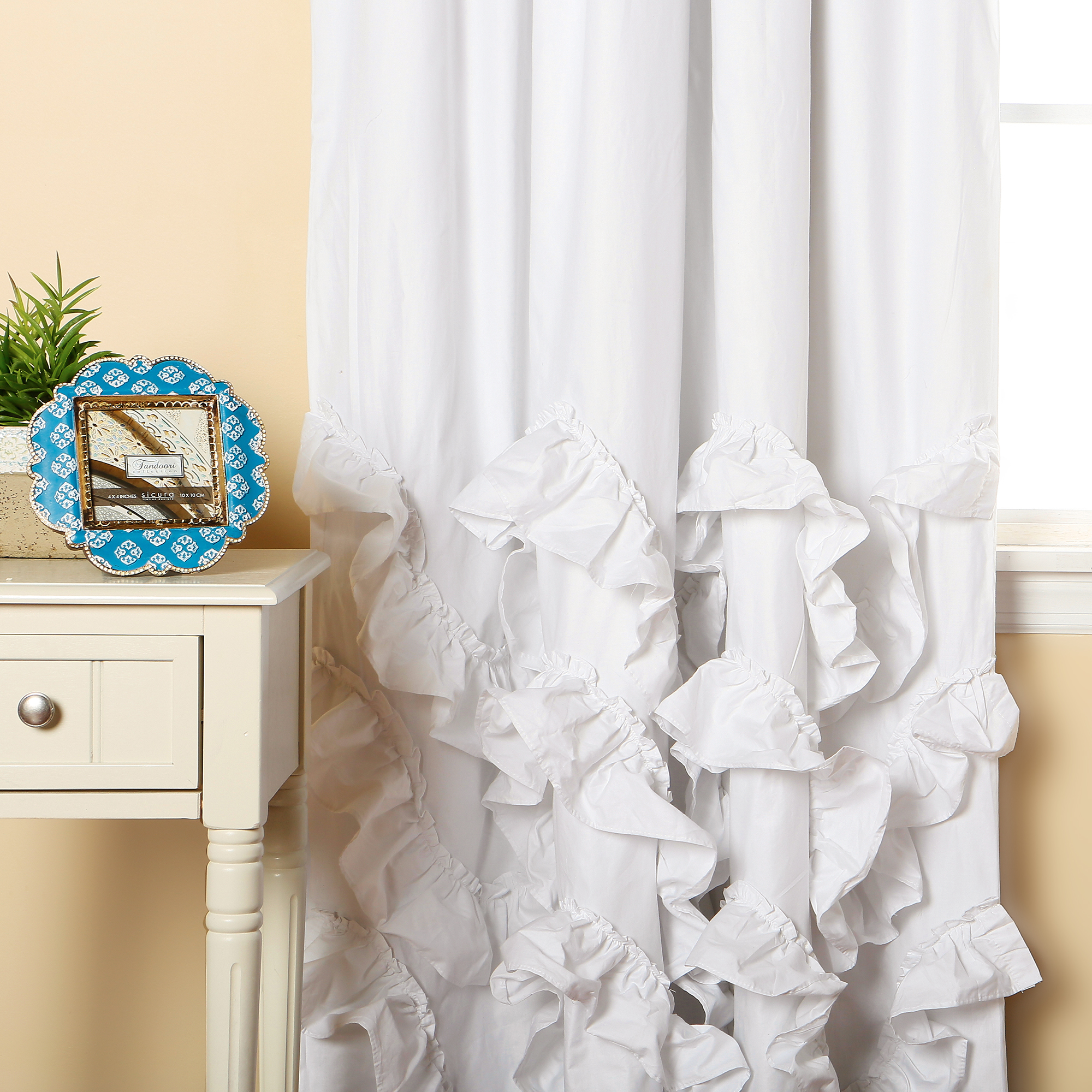 Frilly Curtains | Ruffle Blackout Curtains | Childrens Blackout Curtains Ikea