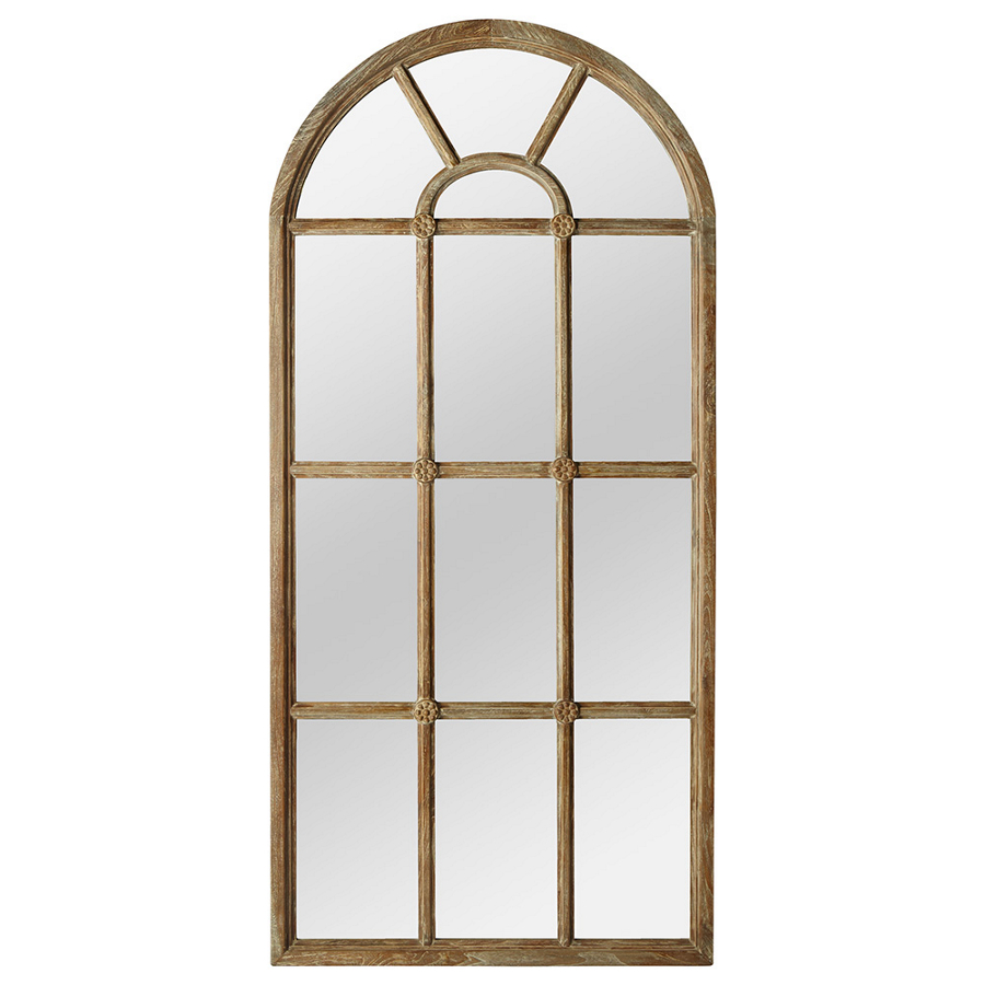 Full Length Mirror Target | Windowpane Mirror | Arched Window Pane Mirrors