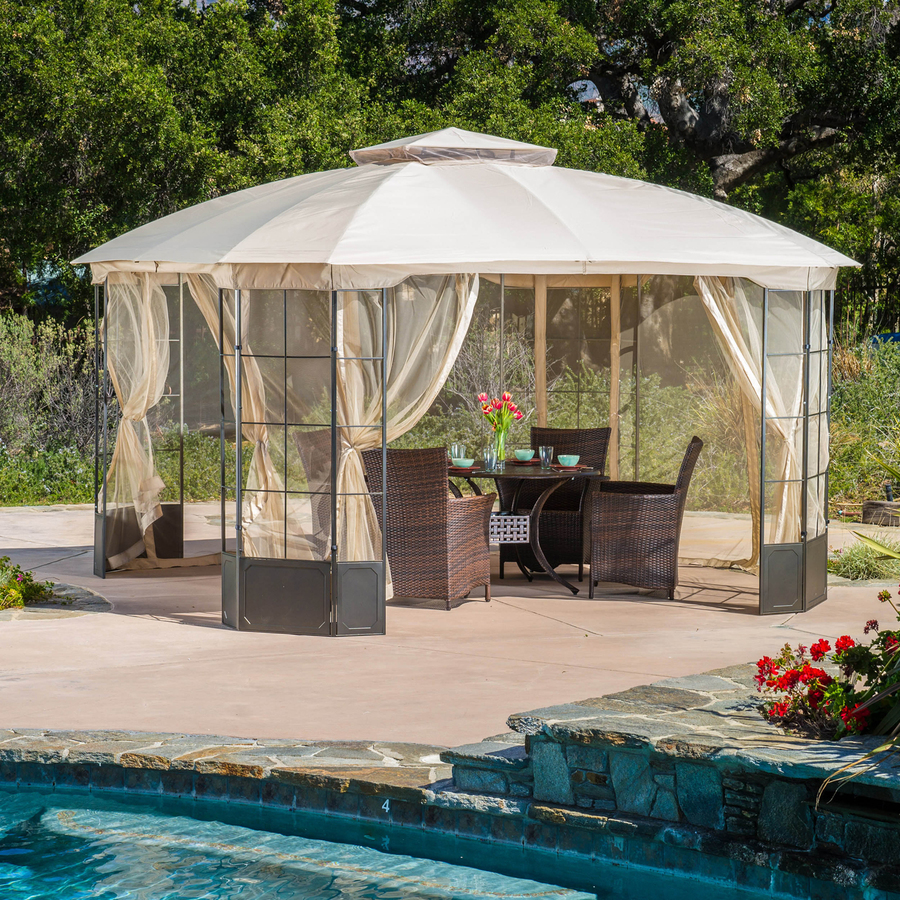 Gazebo 15x15 | Screened Gazebo | Patio Gazebo Walmart