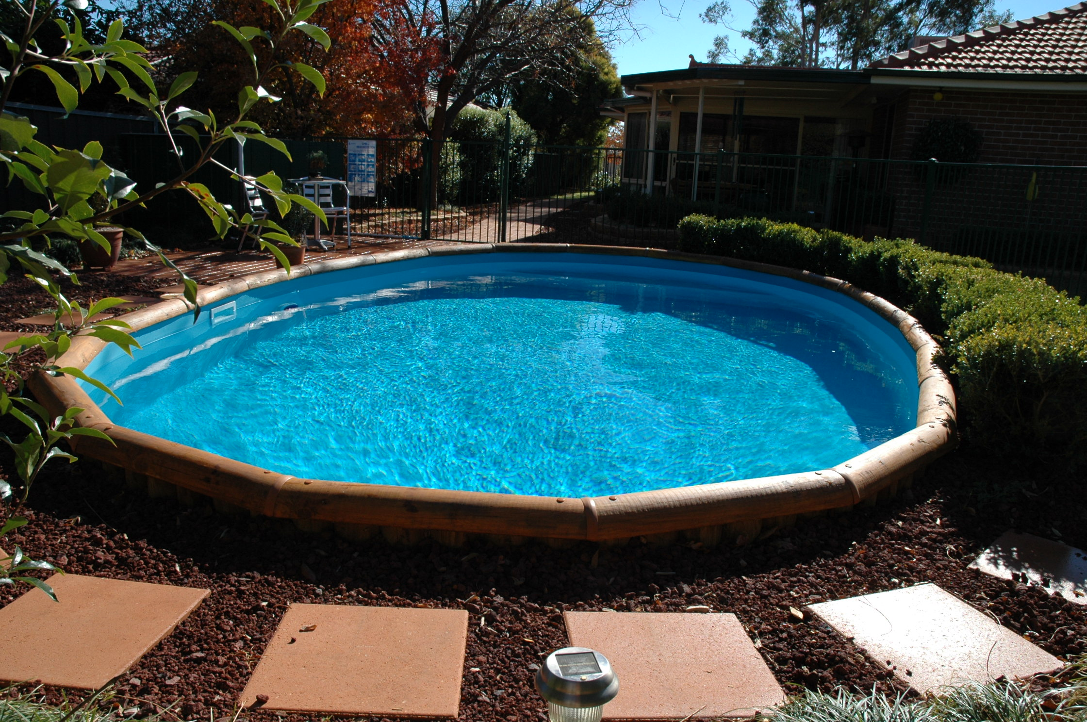 Half Above Ground Pools | Above Inground Pools | Semi Inground Pool Ideas