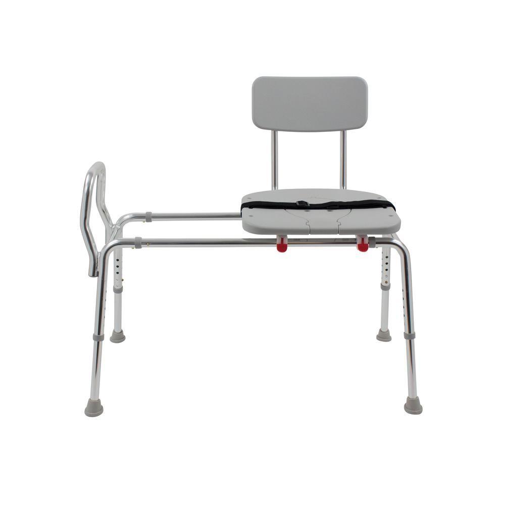 Handicap Bathtub Seats | Medline Transfer Bench with Back | Transfer Tub Bench