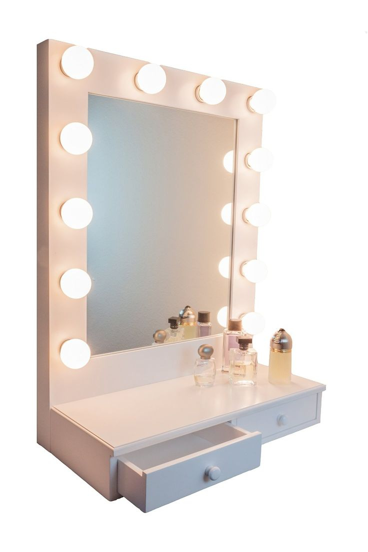 Hollywood Vanity Girl Broadway Mirror | Hollywood Vanity Mirror with Lights | Hollywood Style Mirror with Lights