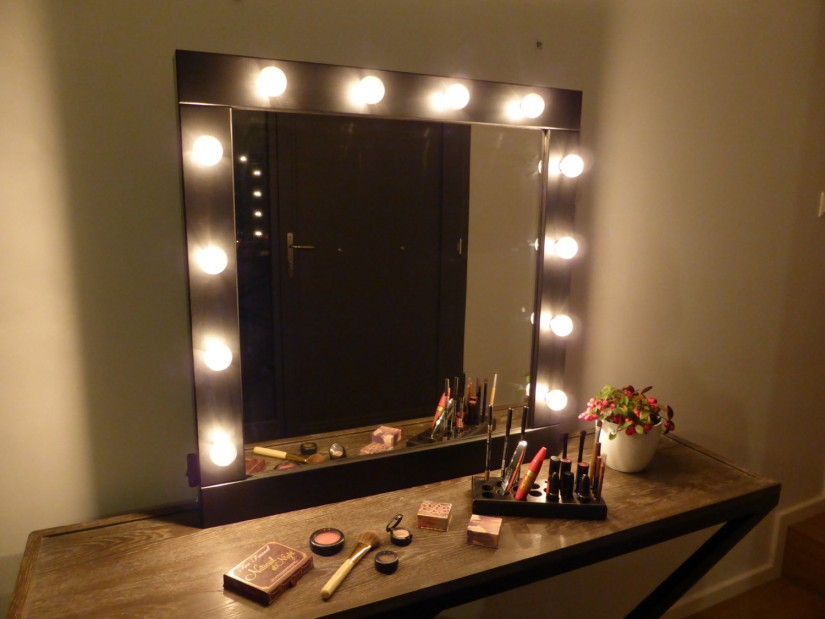 Hollywood Vanity Mirror With Lights | Hollywood Glamour Mirror | Hollywood Vanity Girl Broadway Mirror