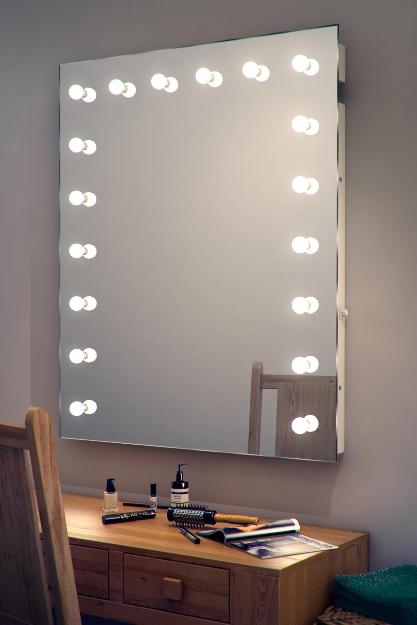 Hollywood Vanity Mirror With Lights | Hollywood Lighted Makeup Mirror | Lighted Vanity Mirror Hollywood