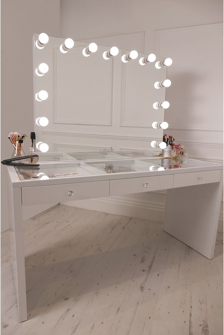 Hollywood Vanity Mirror with Lights | Hollywood Vanity Makeup Table | Vanity Girl Hollywood Dupe