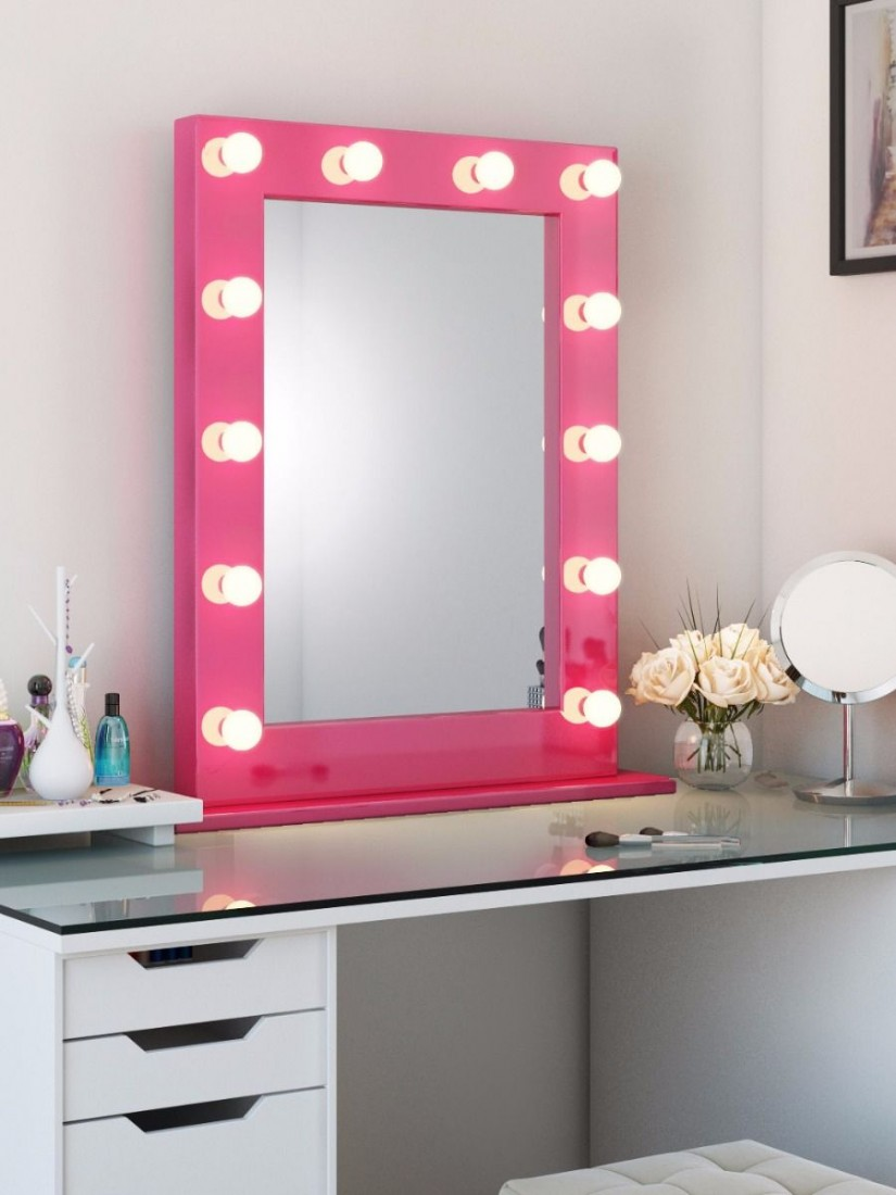 Hollywood Vanity Mirror With Lights | Hollywood Vanity Mirror With Light Bulbs | Vanity Girl Hollywood Mirror Dupe