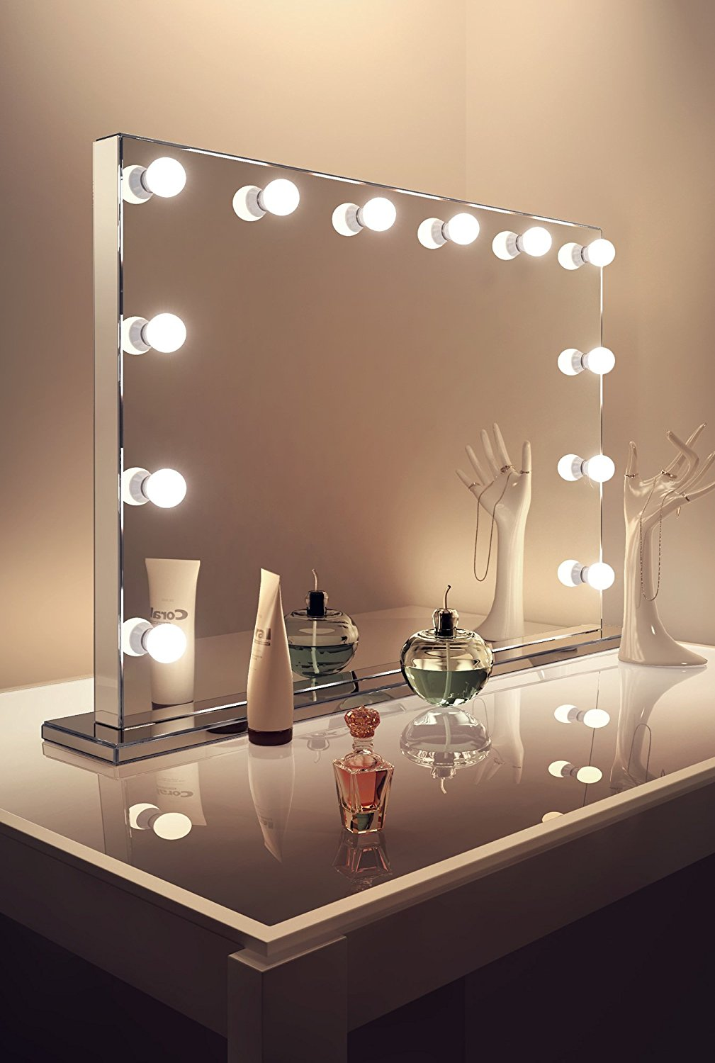 Hollywood Vanity Mirror with Lights | Makeup Vanity Mirror | Lighted Vanity Makeup Mirror