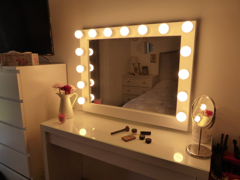 Hollywood Vanity Mirror With Lights | Makeup Vanity Mirror | Vanity Girl Hollywood Broadway Mirror