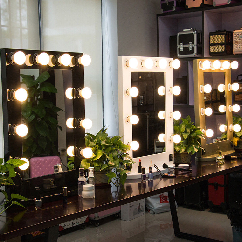 Hollywood Vanity Mirror with Lights | Makeup Vanity with Lighted Mirror | Hollywood Style Makeup Vanity