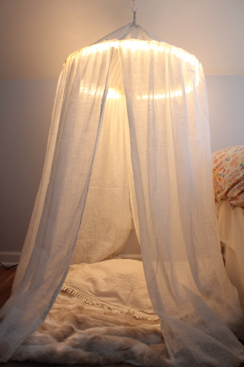 How To Make A Bed Canopy With Curtains | Canopy Bed Curtains | Sheer Canopy Drape