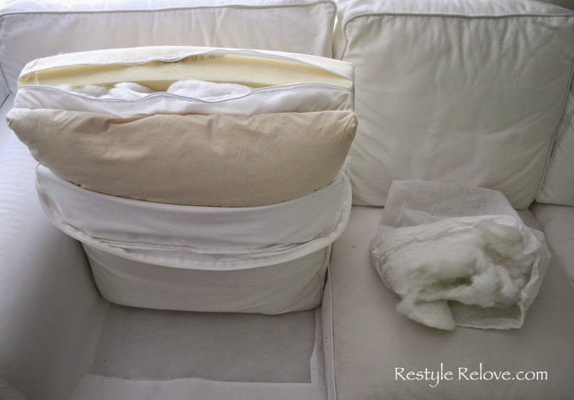 How To Restuff Couch Cushions | Restuffing Couch Cushions | Saggy Couch