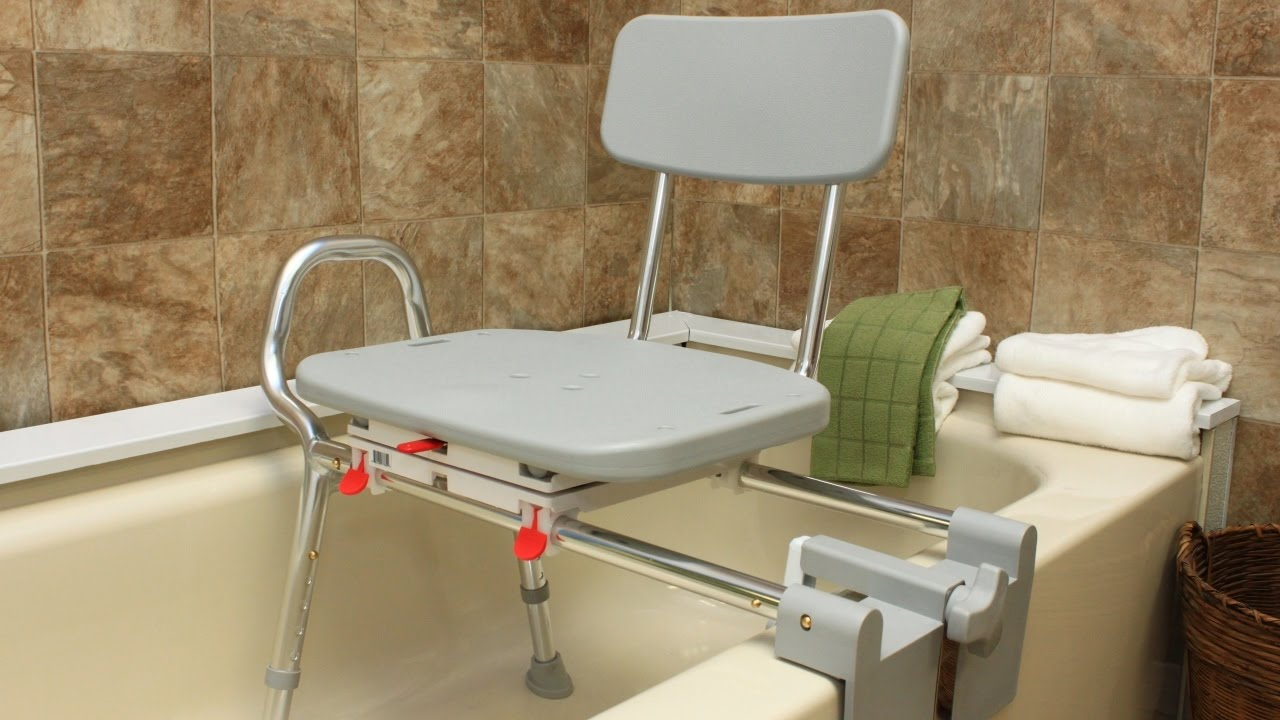 How to Use A Bath Transfer Bench | Medline Transfer Bench with Back | Transfer Tub Bench