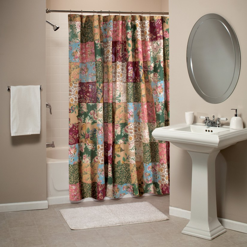 India Shower Curtain | Floral Shower Curtain | Coral Shower Curtain