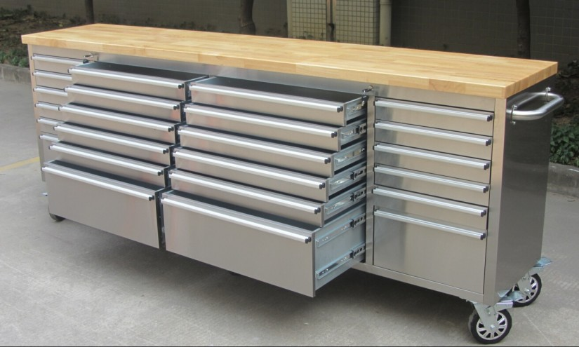 Industrial Workbench With Drawers | Metal Workbench | Mechanic Work Bench