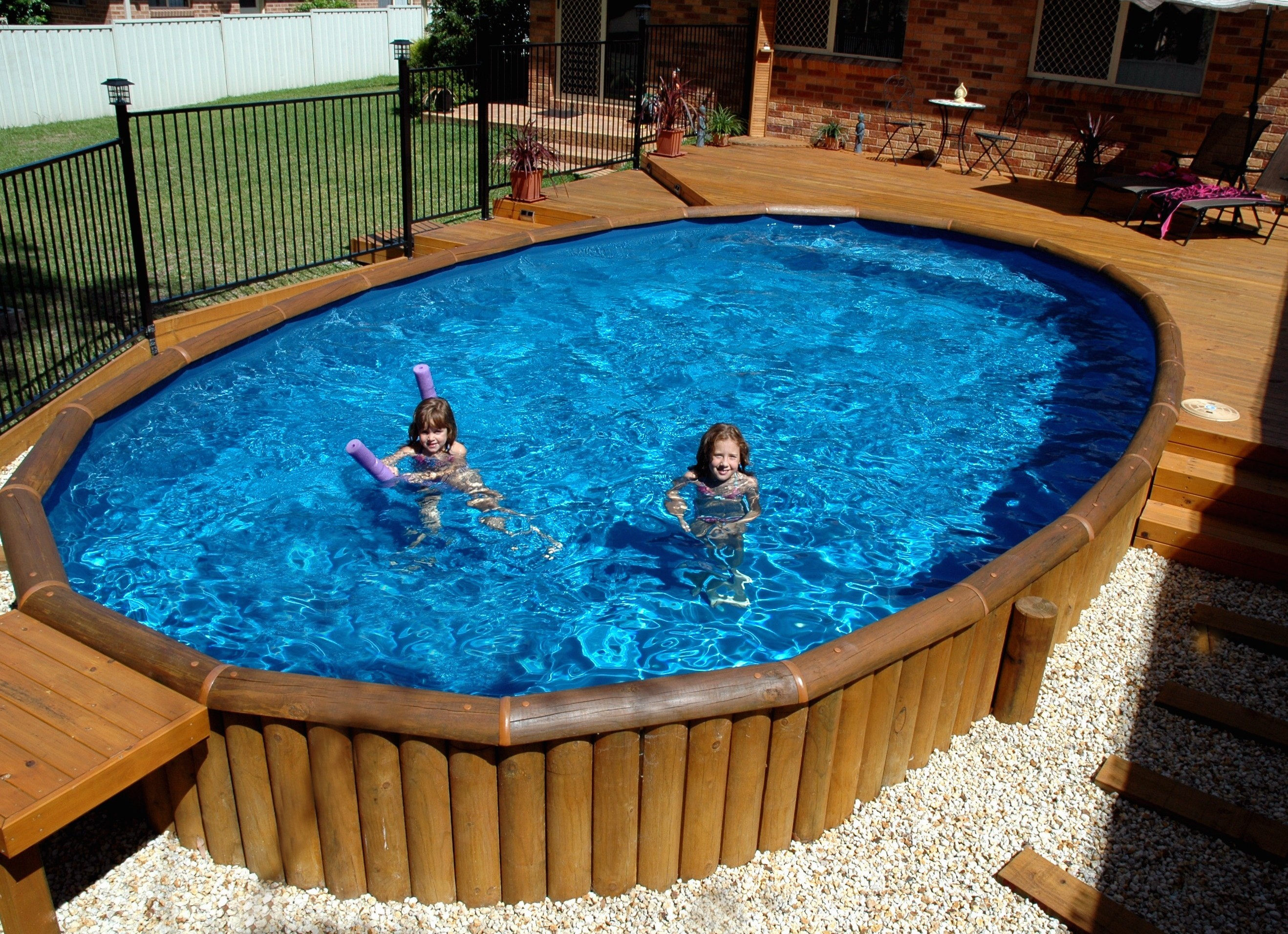 Inground Above Ground Pools | Half Inground Pools | Semi Inground Pool Ideas