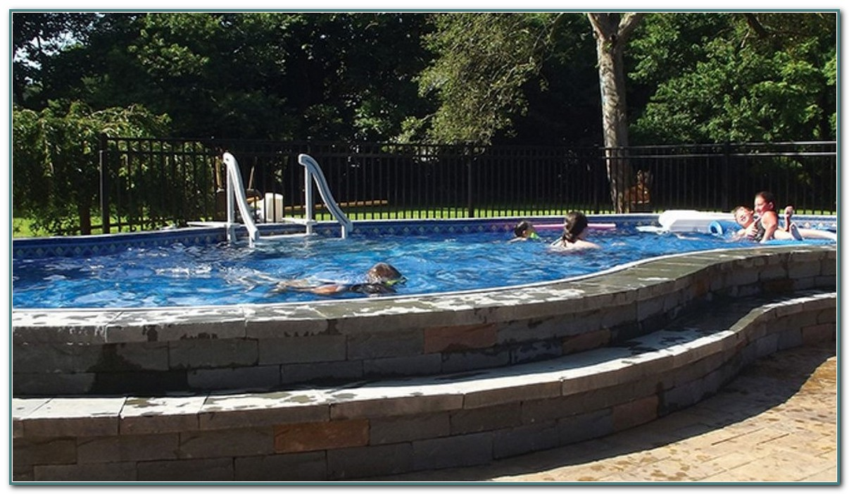 Inground Pool | Above Ground Pools Installers | Semi Inground Pool Ideas