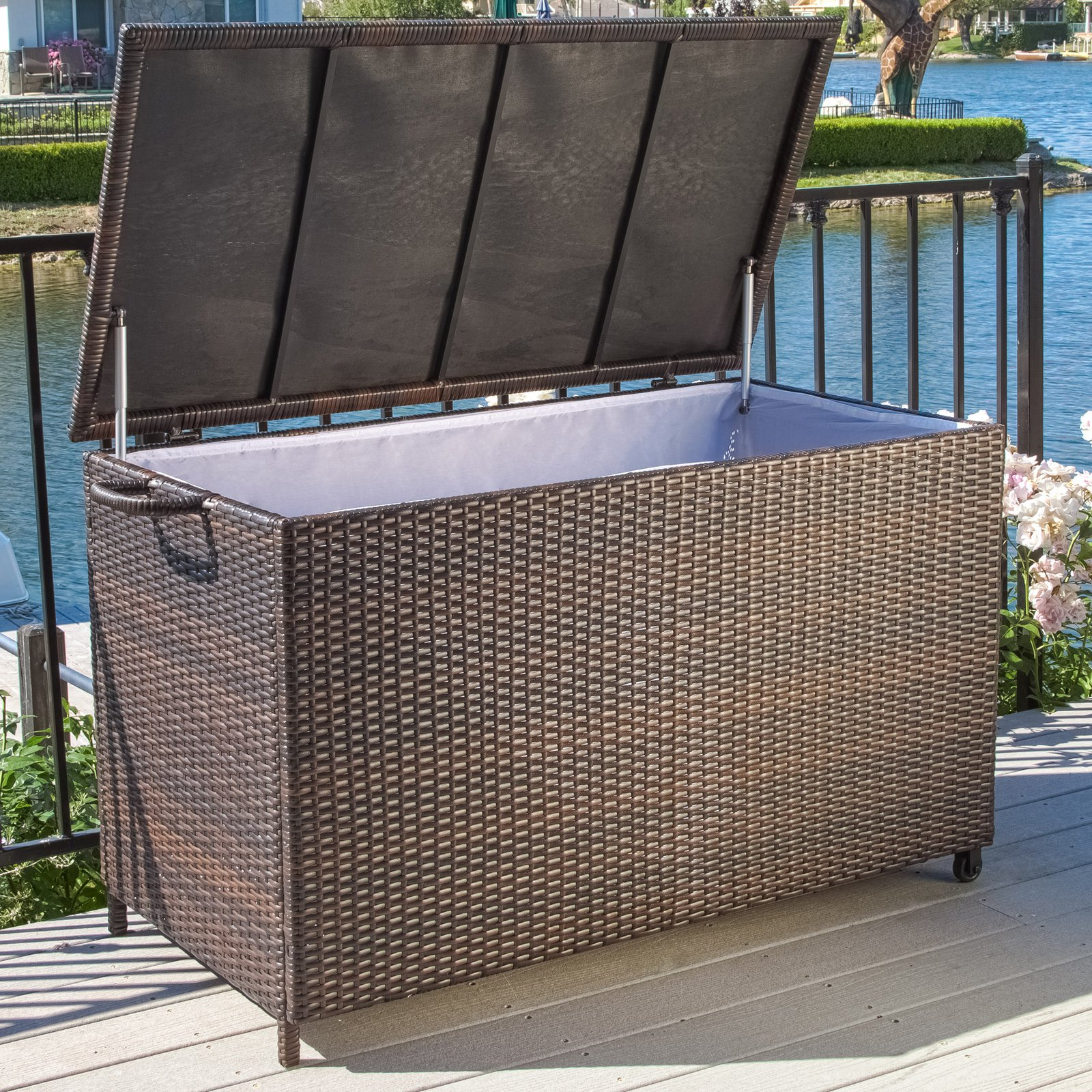 Keter 150 Gallon Deck Box | 150 Gallon Deck Storage Box | 150 Gallon Storage Box