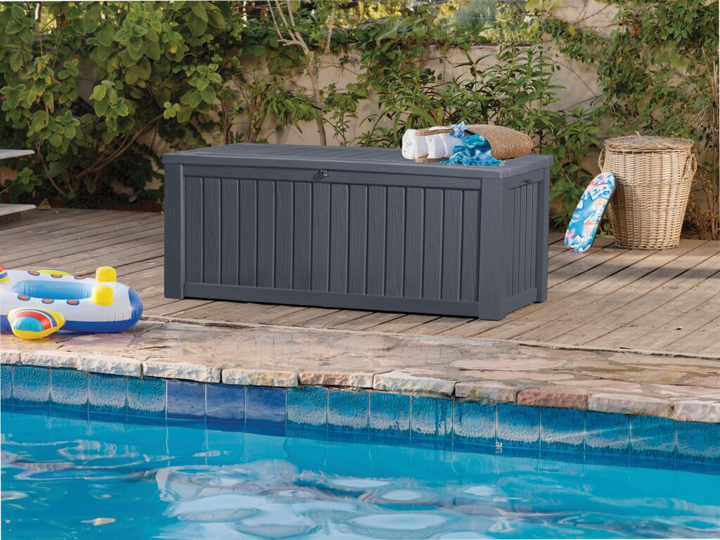 Keter 150 Gallon Deck Box | Keter Plastic Storage Box | Keter Rockwood