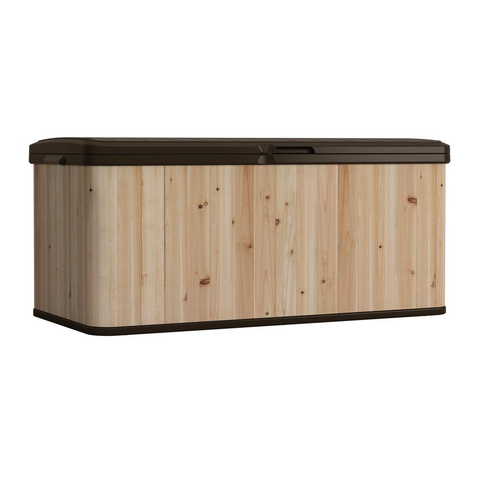 Keter 150 Gallon Deck Box | Keter Rockwood Deck Box | Deck Box Storage Bench