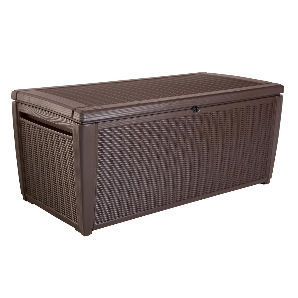 Keter 150 Gallon Deck Box | Keter Storage Box | Costco Garden Storage