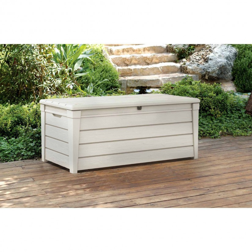 Keter 150 Gallon Deck Box | Lockable Deck Box | Suncast Small Deck Box