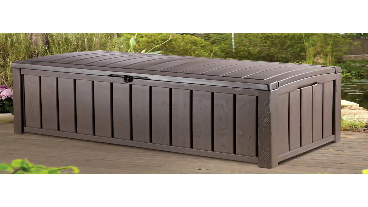 Keter 150 Gallon Deck Box | Outdoor Storage Deck Box | Keter Outdoor Storage Box