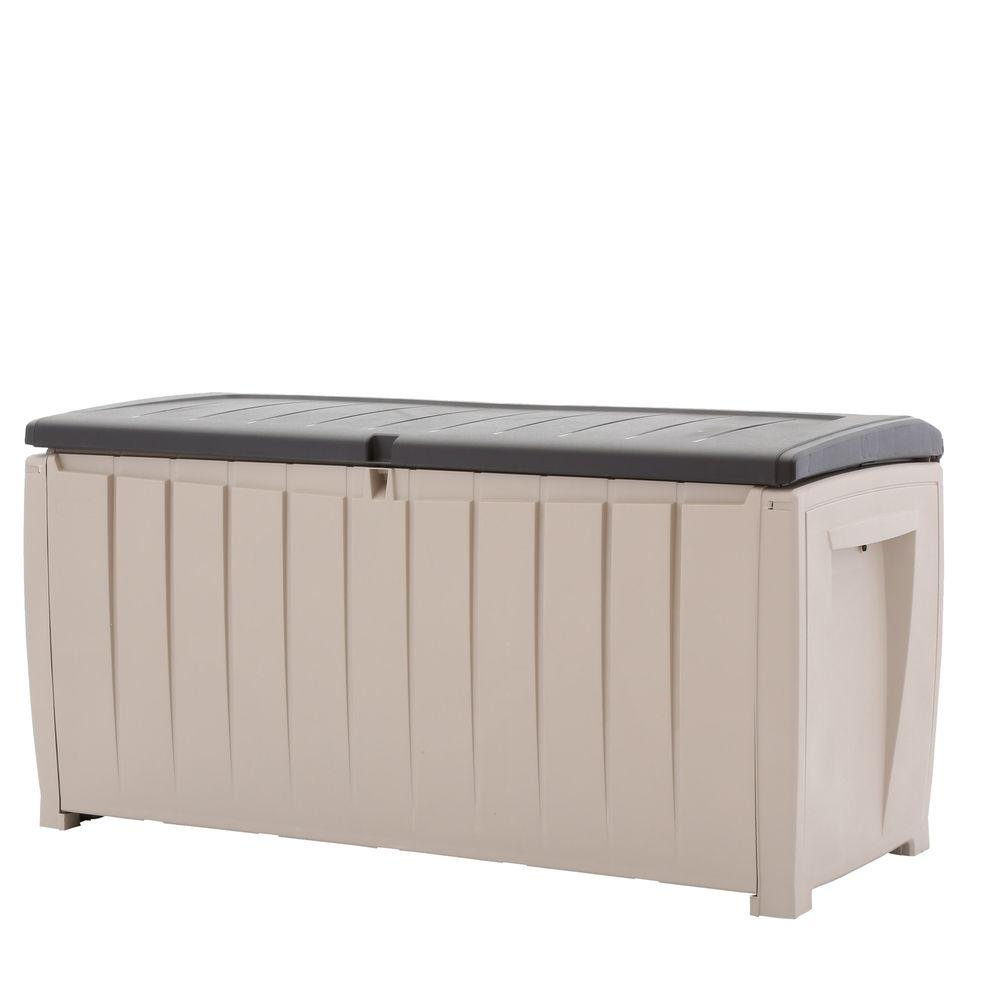 Keter 150 Gallon Deck Box | Pool Deck Box | Outdoor Deck Box Storage