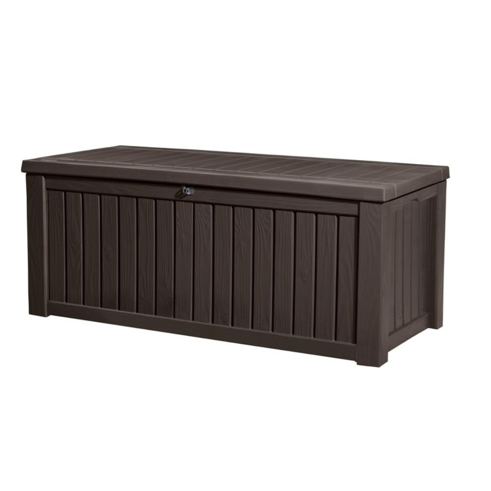 Keter 150 Gallon Deck Box | Resin Outdoor Storage Box | Large Deck Box Storage