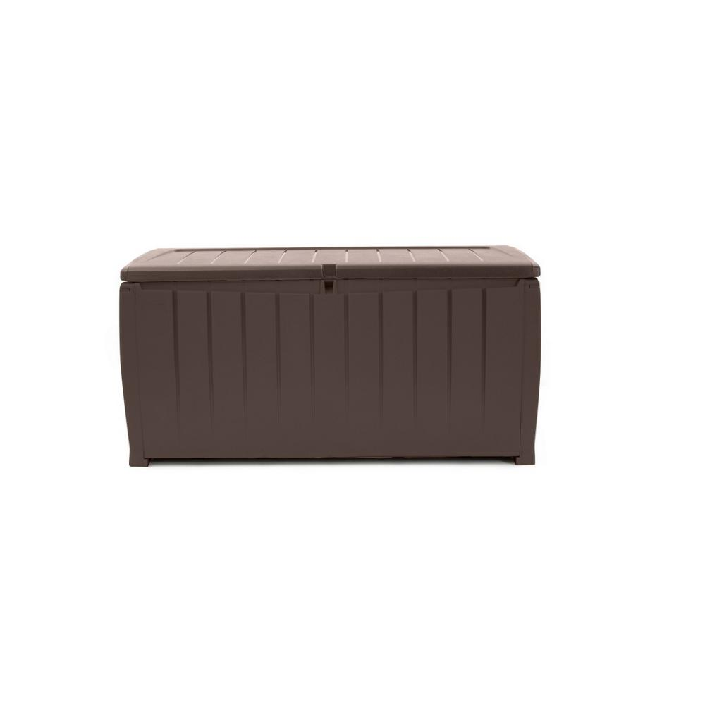 Keter Outdoor Storage Box | Keter 150 Gallon Deck Box | Resin Wicker Storage Box
