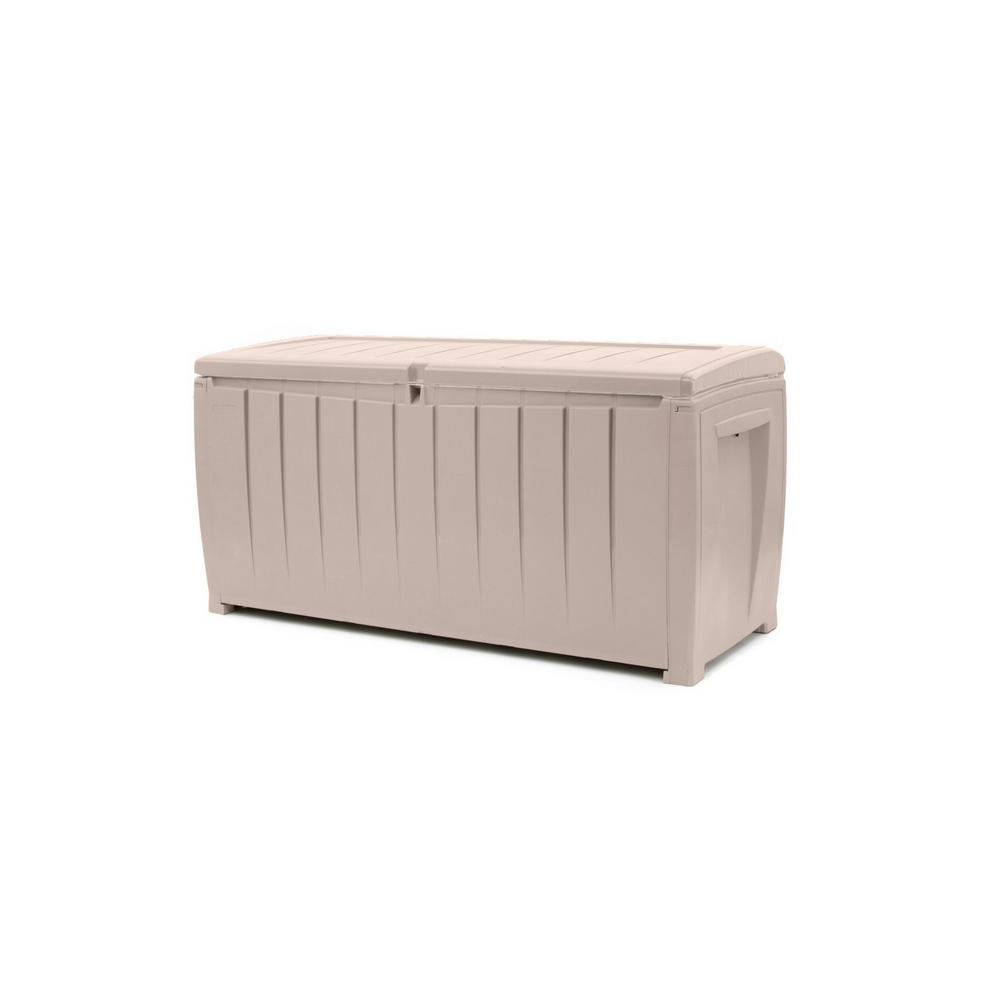 Keter Rockwood Deck Box 150-gallon | Keter 150 Gallon Deck Box | Costco Deck Box