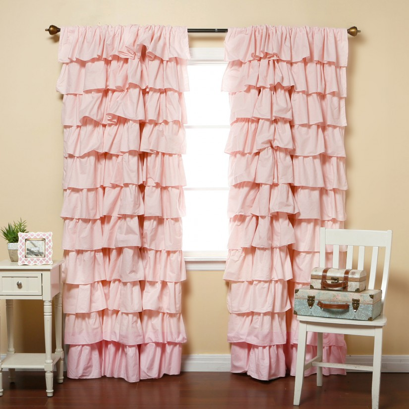 Kids Blackout Drapes | Ruffle Blackout Curtains | Ruffle Drapes