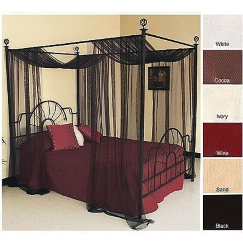 King Size Canopy Bed With Curtains | Beds With Canopy Curtains | Canopy Bed Curtains