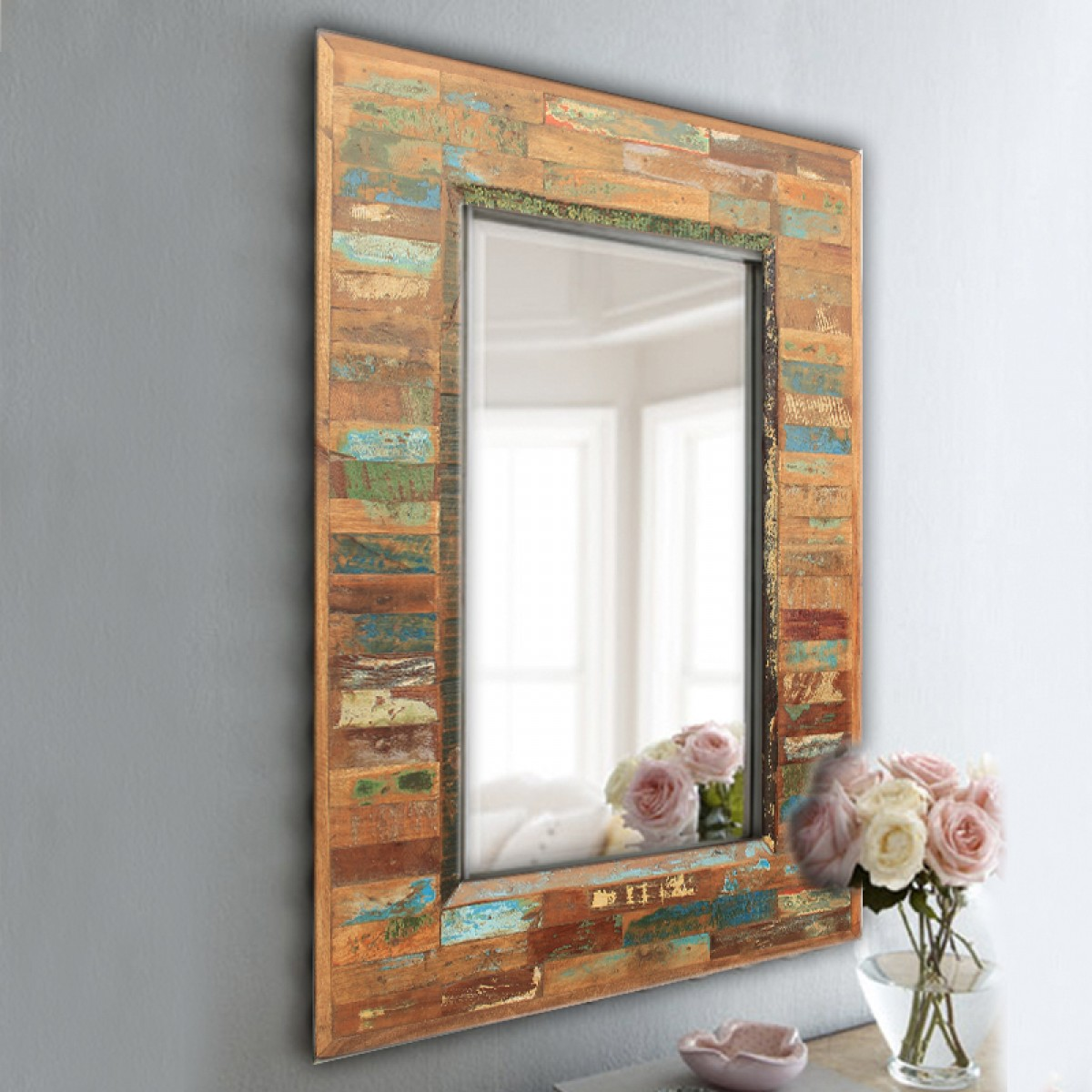 Kirkland Mirrors | Oak Framed Bathroom Mirrors | Reclaimed Wood Mirror