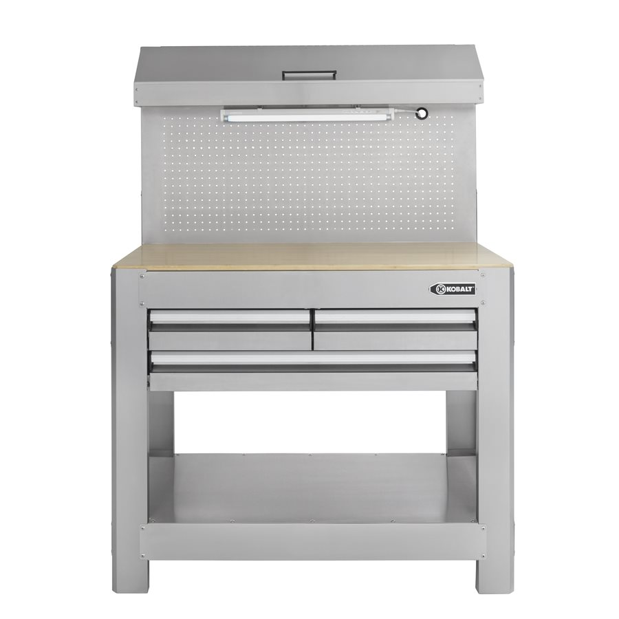 Kobalt Work Bench | Industrial Steel Workbench | Metal Workbench