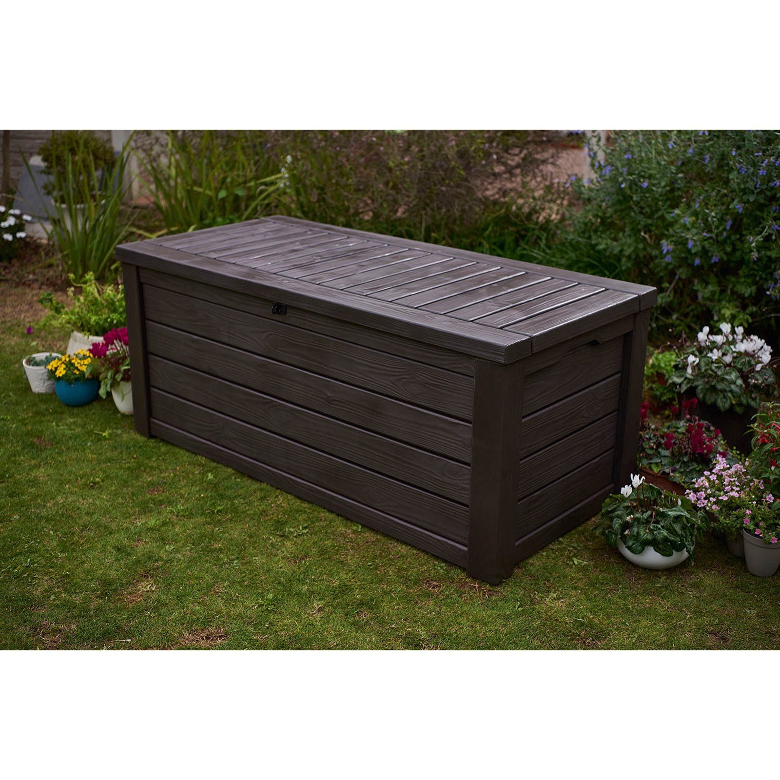 Large Deck Box for Cushions | Outdoor Deck Box Storage | Keter 150 Gallon Deck Box
