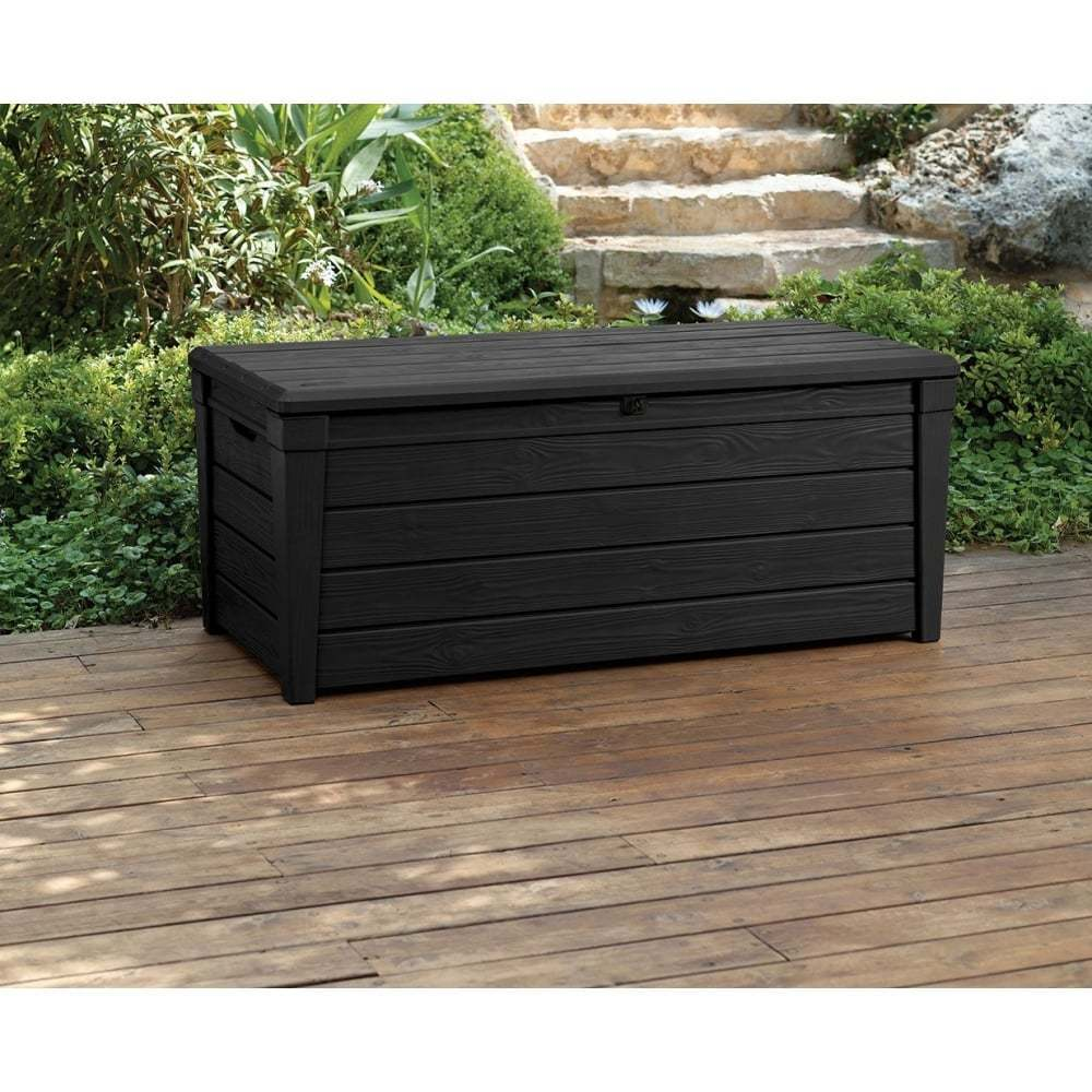 Large Deck Boxes | Keter 150 Gallon Patio Storage Bench Deck Box | Keter 150 Gallon Deck Box