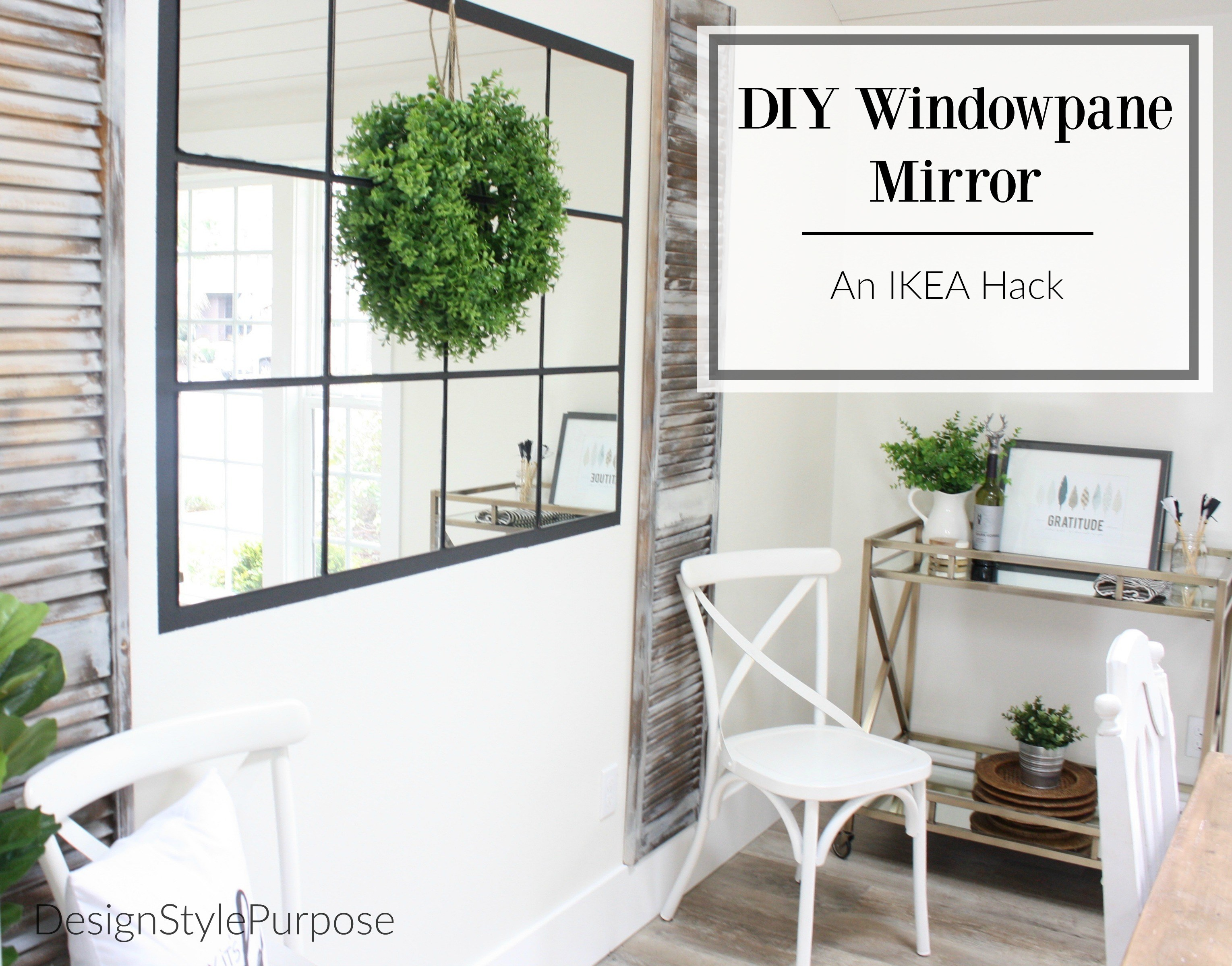 Large Ornate White Mirror | Multi Pane Mirror | Windowpane Mirror