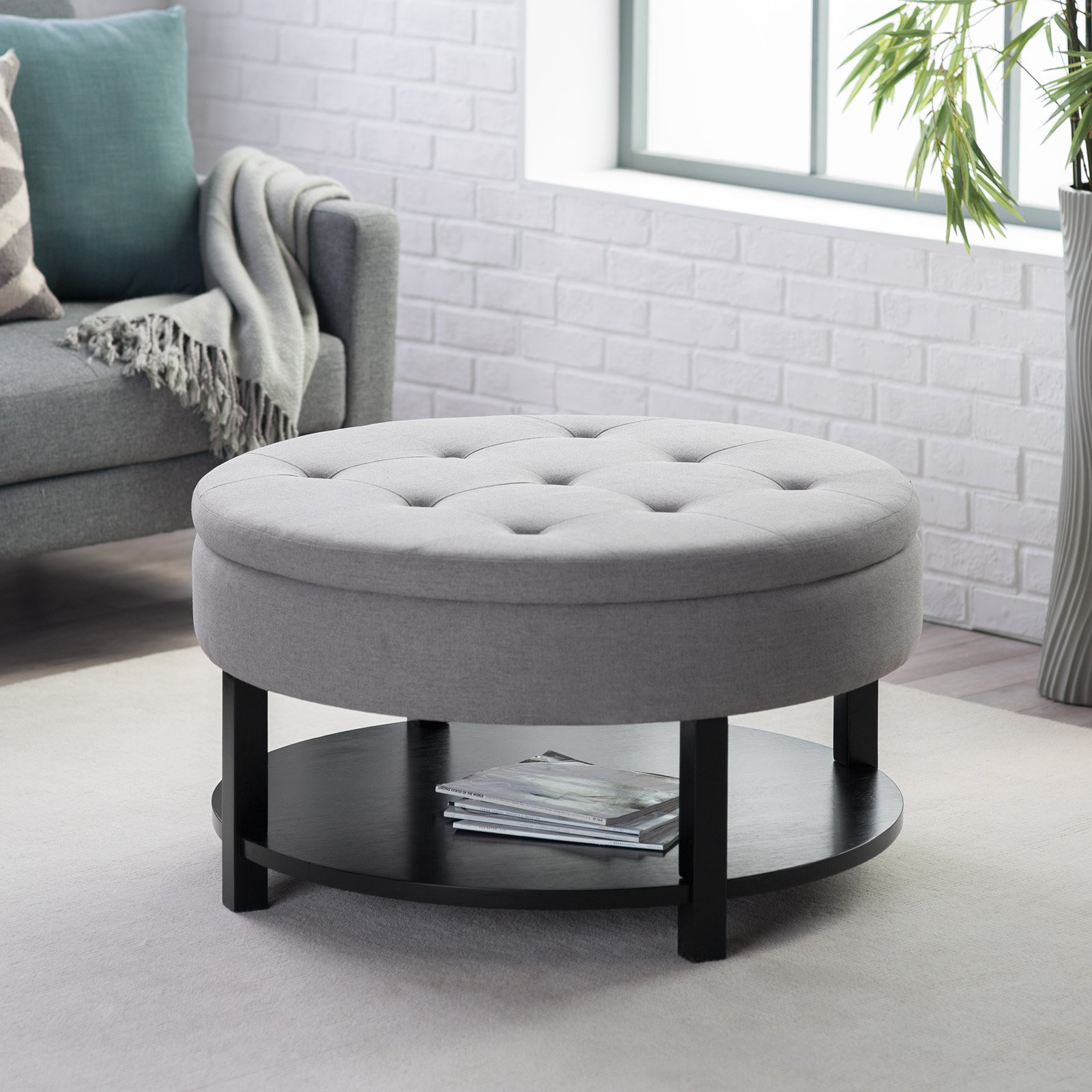 Large Ottoman Coffee Table | Ottoman Coffee Table Combination | Suede Ottoman Coffee Table