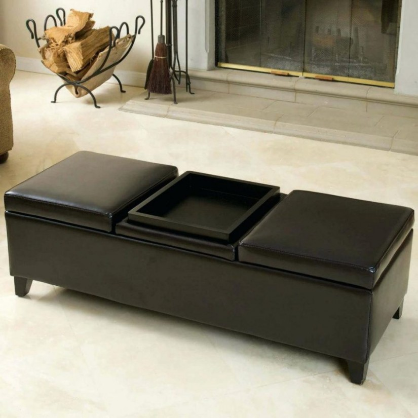 Large Ottoman Coffee Table | Oversized Storage Ottoman | Large Coffee Table Ottoman