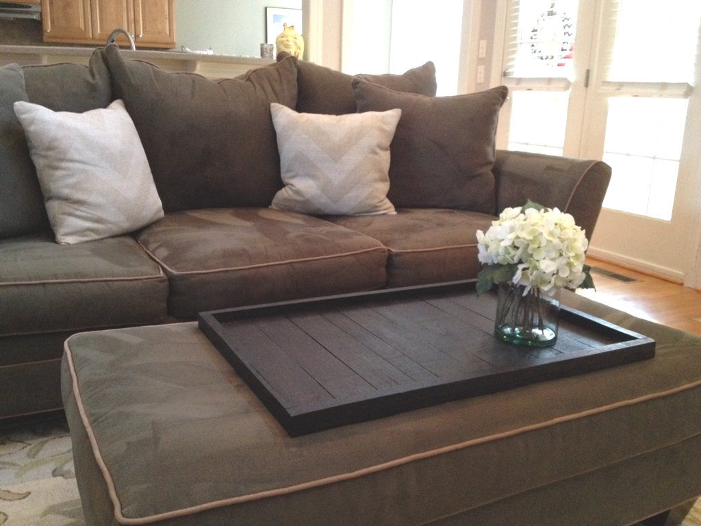 Large Ottoman Coffee Table | Small Round Storage Ottoman | Oversize Ottoman