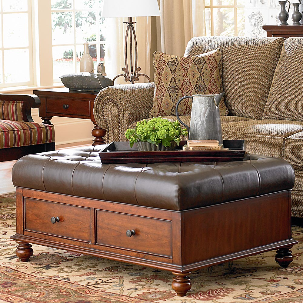 Large Square Coffee Table Ottoman | Large Ottoman Coffee Table | Coffee Table with Footstools